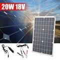 20 Вт 18В Автомобильная лодка яхта Солнечная Панель зарядное устройство источник питания новый