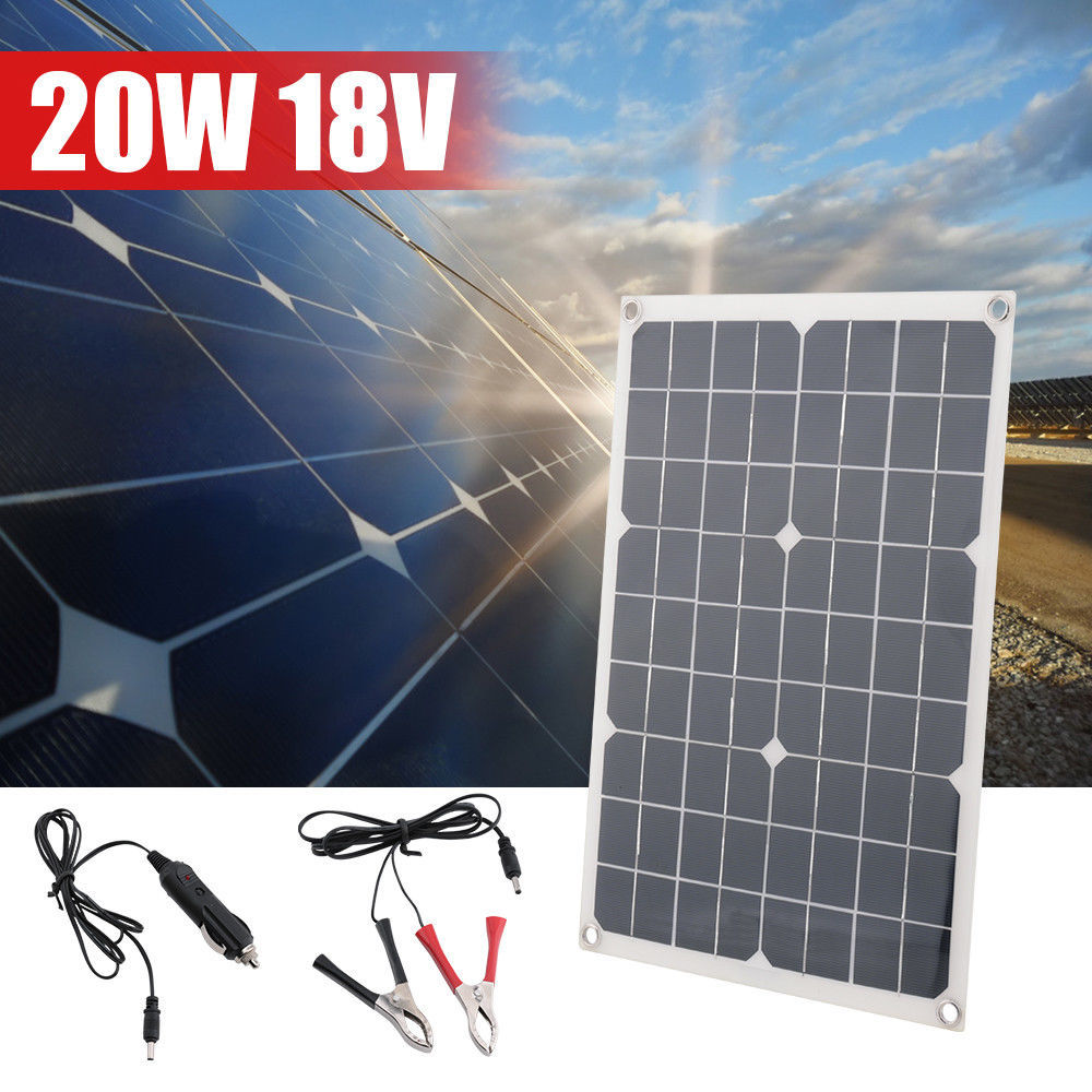 20W 18V Car Boat Yacht Solar Panel Battery Charger Power Supply New