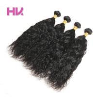 브라질 인간의 머리 자연 웨이브 4 번들 # 1B 색상 인간의 머리 직조 번들 머리 빌라 사전 컬러 비 레미 헤어 확장