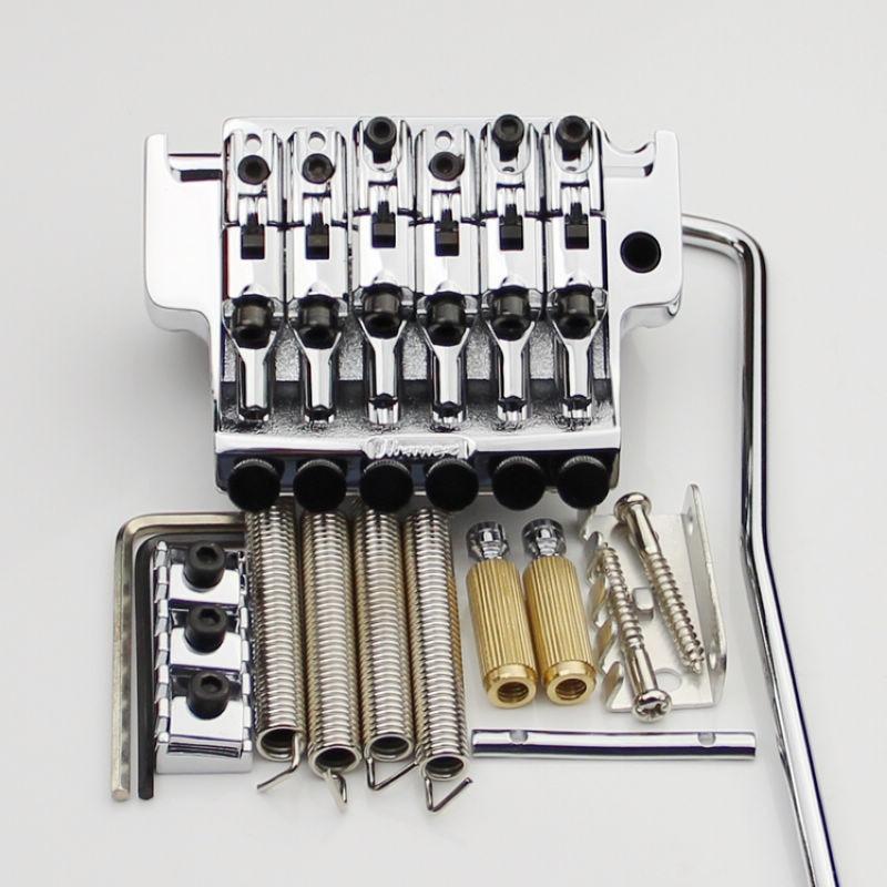 1 SET EDGE III Electric Guitar Locking Tremolo System Bridge String lock 43MM For IBZ Chrome