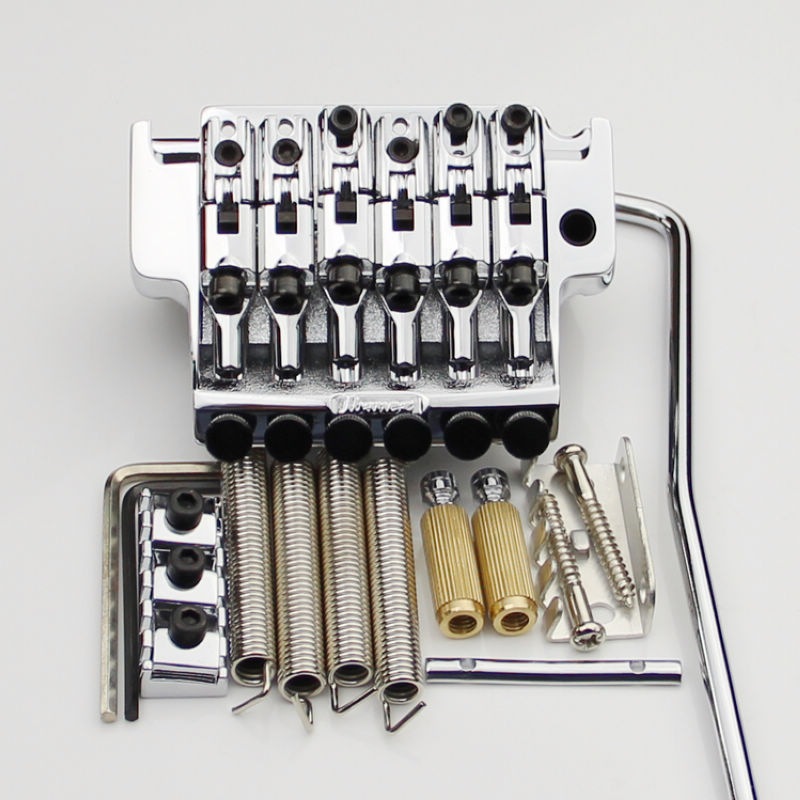 1 SET EDGE III Electric Guitar Locking Tremolo System Bridge String lock 43MM For IBZ Chrome цена