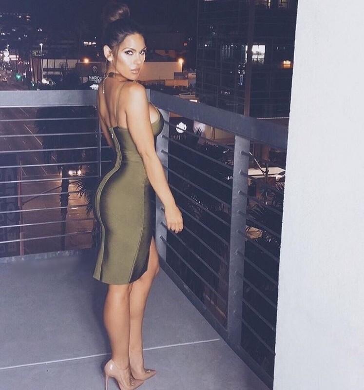Leger Babe mujeres vestido nuevo 2016 verano sexy Deep V ...