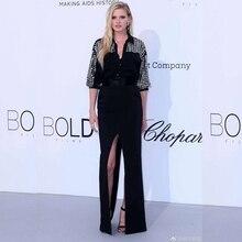 Модное Новое поступление черный Бандаж с бусинами комбинезон с коротким рукавом сплошной Сплит Сексуальная Клубная одежда вечернее знаменитостей для женщин