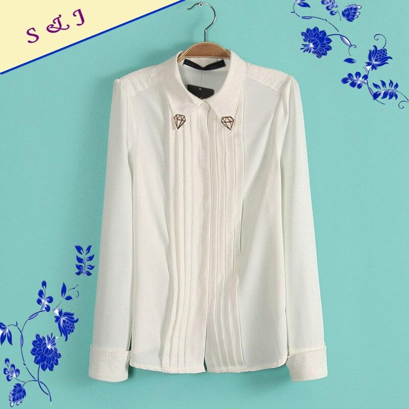 Women 39 s black white formal pleated dress shirt ladies for Black pleated dress shirt