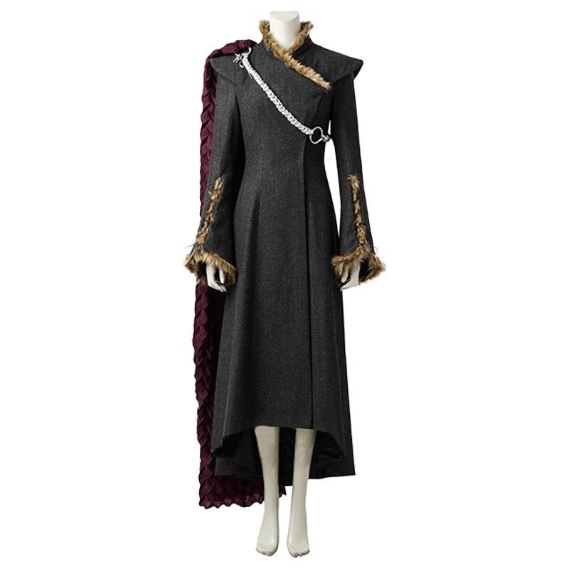 Game of Thrones Season 7 Cosplay Daenerys Targaryen Cosplay Costume Long Fancy Dress Ver. 3 Cosplay Costume Halloween Costume