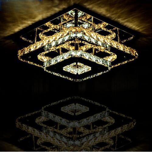 LED Modern Crystal Ceiling lights Fixture Square lamp de teto For Living Room Ceiling Lamp Surface Mounted For Bedroom Corridor surface mounted mediterranean glass led ceiling lights for living room and bedroom luminaria teto fashion ceiling lamp for home