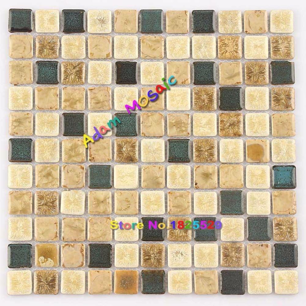 Beige Mosaic Tile Bathroom Wall Materilas Kitchen Tiles Backsplash ...