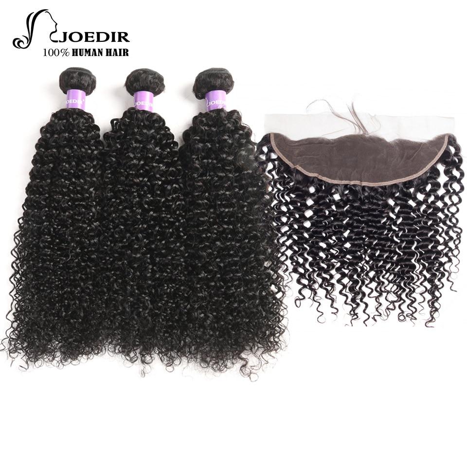 Joedir волос бразильский вьющиеся волосы Кружева Фронтальная застежка 100% человеческих  ...
