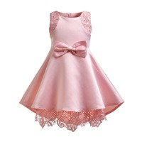 Newborn Baby Girl Birthday Dress Petals Tulle Toddler Girl Christening Dress Infant Princess Party Pink Dresses For Girls