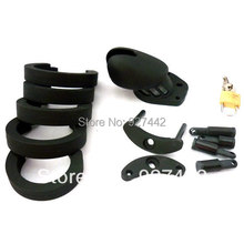 black CB6000S Male Short chastity cage color silicone MALE Chastity device CB6000 sex toy 003