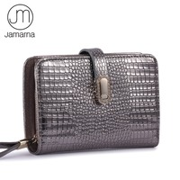 Jamarna Crocodile Genuine Leather Wallet Female Small Sliver Purse Card Holder Zipper Coin Purse Ladies Wallet