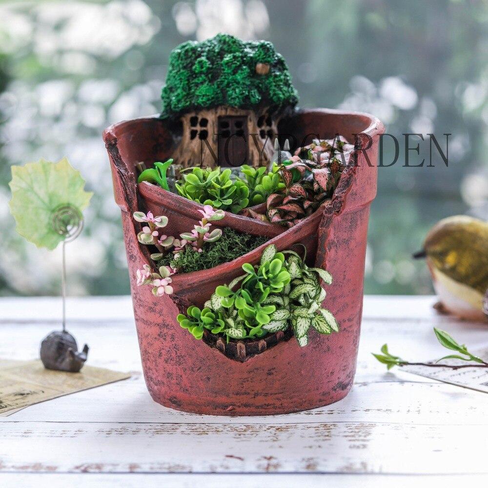 Creative Micro Landscape Planter New Novelty Resin Garden Flowerpot