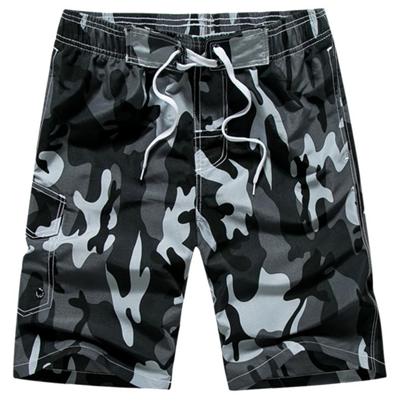 SHUJIN Summer Mens Beach   Shorts   Camouflage Loose Large Size Beachwear Casual Quick Dry Water Sport   Shorts   Camouflage Style 2019