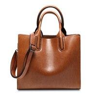 Amasie New Arrival Large Tote Office Lady Fashion Handbag Genuine Leather Vintage Sac Bolsas Bolsos Hand