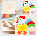 Kids Wood 3D Puzzle Wooden Puzzle Toys for Children Early Learning Toys Cartoon Animal Jigsaw Puzzle Eduactional toy