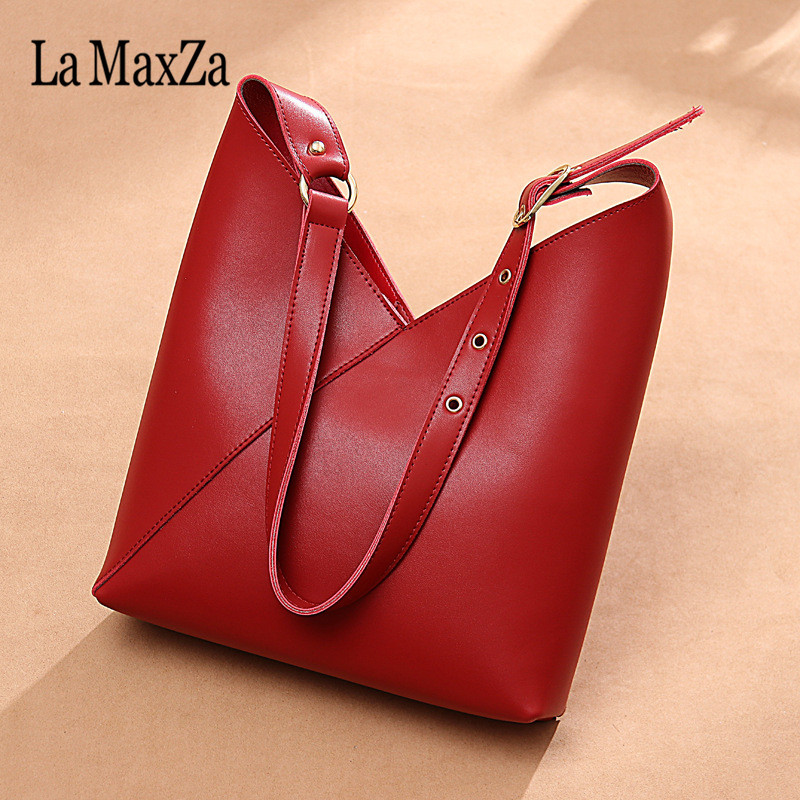La MaxZa Women Bag Set Big Capacity Female Tassel Handbag High Quality Leather Casual Shoulder Purse Ladies Crossbody Bag women genuine leather tote bag set top handle big capacity female tassel handbag fashion shoulder bag purse ladies crossbody bag
