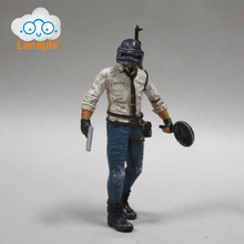 Lensple 17cm Game Player Playerunknowns Battlegrounds Eat Chicken Pubg Action Figure Model Winner Dinner Toy Gifts