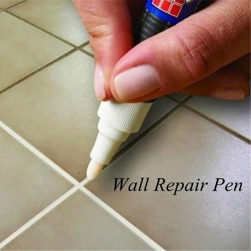 בית לדיס אריח סמן תיקון קיר עט לבן לדיס סמן חסר ריח שאינו רעיל עבור אריחי רצפת 8 צבעים לבחור