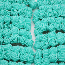 2cm Mini Rose Flowers Artificial PE Foam Flower for Home Wedding Car Decoration DIY Pompom Wreath Decorative Bridal Flower 2019 new creative necklace green four leaf clover gift glass convex personality pendant necklace fashion jewelry