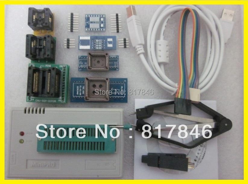 все цены на Free shipping V7.05 XGECU TL866A TL866II Plus Universal USB Bios EEPRO AVR Nand flash 24 93 25 Programmer MiniPro +9 Adapters онлайн