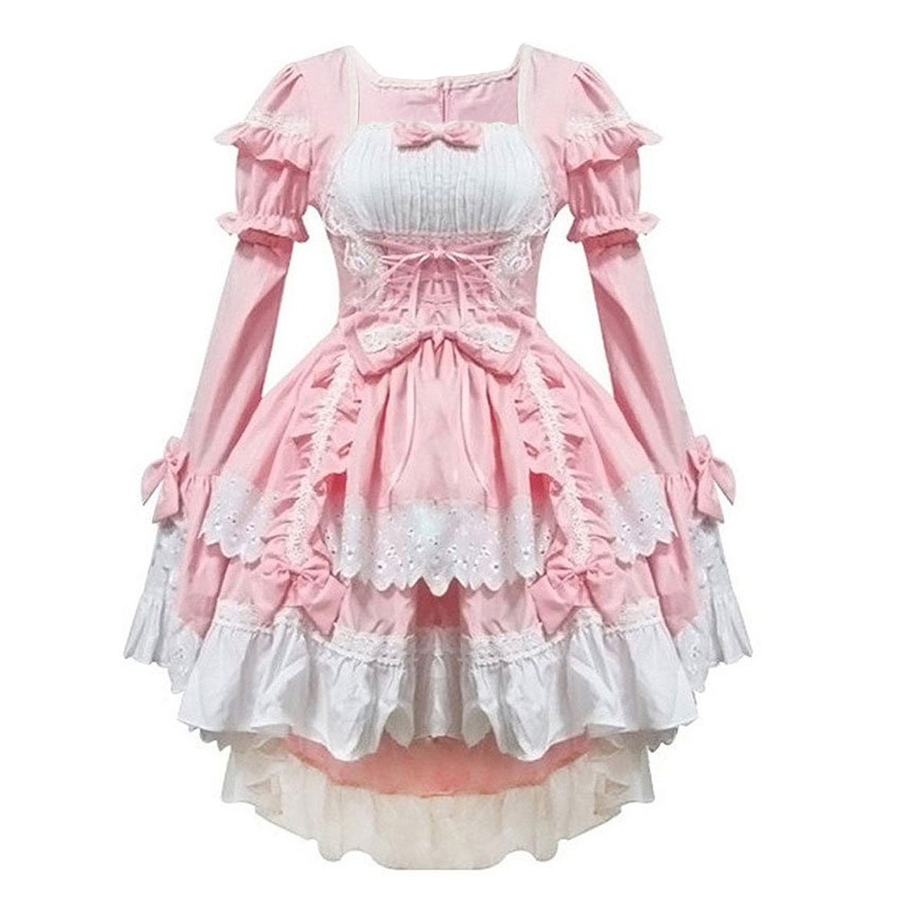 IMC Pink costumes maid clothes anime font b clothing b font cosplay