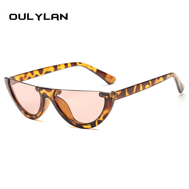 61ecbee91dac2 Oulylan Olho de Gato Do Vintage Óculos De Sol Das Mulheres Clássico Metade Quadro  Óculos de