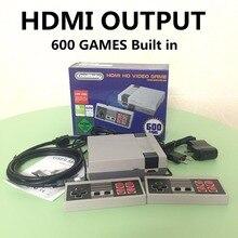 HDMI Out Retro Clásico TV consola de videojuegos jugador handheld del juego de La Familia Infancia Incorporado 600 Juegos de nes mini HDMI