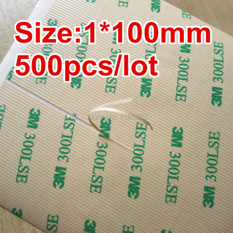 500pcs/lot 1mmx100mm 3M 9495LE 300LSE High Strength Double Sided Adhesive Tape For Mobilephone LCD Touch Screen Repair