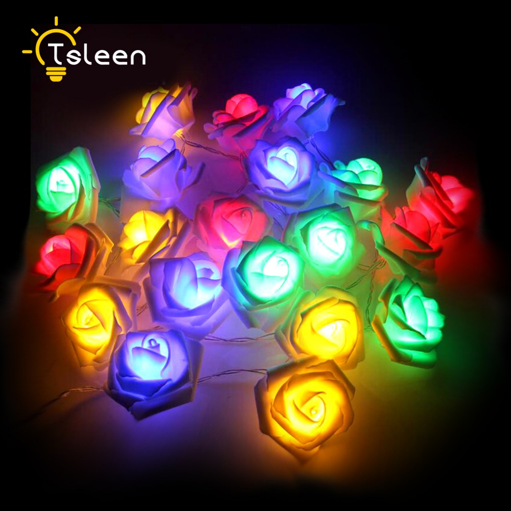 Diy flower string lights - Cheap Diy 2m 20leds Battery Powered Led Strip Rattan Ball Flower Waterdrop String Lights