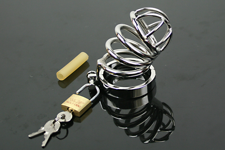 ФОТО Discount Hot Sale Time-limited Cock Ring Pene Penis Stainless Steel Male Chastity Device Sex Products