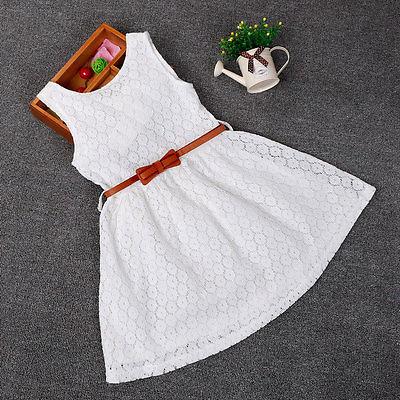 Новинка платья одежда для маленьких девочек красивое кружевное платье принцессы без рукава летнее платье детская одежда 2 3 4 5 6 7 лет