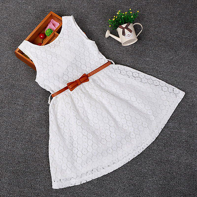 Dresses Children Baby Kids Girls Clothes Lace Hollow Out Sleeveless Cool Princess Summer Dress Clothes Kid 2 3 4 5 6 7 Years New little girl lace dress white baby girls princess dresses 2018 cute cotton kids summer clothes for size age 2 3 4 5 6 7 8 years