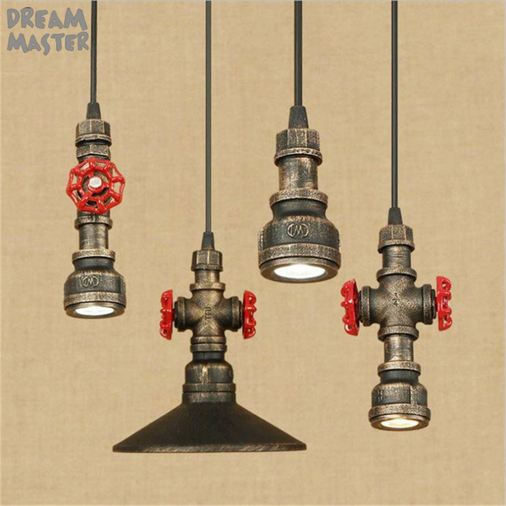LED Pendant Lights Dining Room vintage Pendant Lamps industrial Restaurant Coffee bar rustic hanging Lighting led Iron lamp retro pendant lights industrial kitchen dining room restaurant lighting fixture vintage pendant lamp loft antique hanging lustre