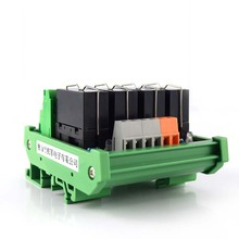 цена на 4-way power relay F1CA024V solenoid valve module input compatible with NPN/PNP dual group 8 foot module
