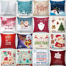 Hot sale christmas snow man pillow case men women girls ladies square pillow cases high definition pillow cover 45*45cm pillow cover christmas snow man home decoration