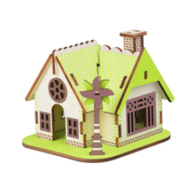 DIY Model toys 3D Wooden Puzzle-Ellie Cottage Wooden Kits Model Educational Puzzle Game Assembling Toys Gift for Kids Adult P1 цены онлайн