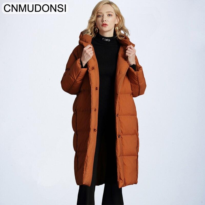 Più il formato Delle Donne di Inverno Parka Delle Donne, nero cappotto di pelliccia parka, Con Cappuccio delle Donne grande Pelliccia di procione,