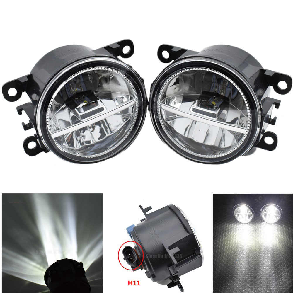 2PCS Car Styling Front LED Fog Lamps Halogen Fog Lights For  Focus MK2/3 Fusion Fiesta Tourneo Transit 2001-2015
