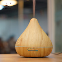 GX Diffuser 300ML 7 Colors Light Ultrasonic Air Humidifier Electric Aromatherapy LED Essential Oil Aroma Mist Maker SAP