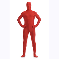 Classic Unisex Red Lycra Spandex Full body Zentai Costumes Halloween Cosplay Jumpsuit For 2018 Unitard Dancewear