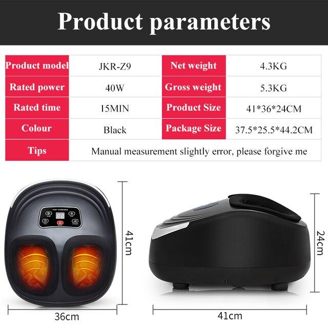 Jinkairui EU Plug Electric Antistress Foot Massager Vibrator Massage Machine Infrared Heating Therapy Health Care Device 5
