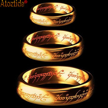 Фотография Gold Color New Fashion Hobbit Gift Midi Ring Tungsten One Ring Of Power Gold Lord of Ring Women and Men