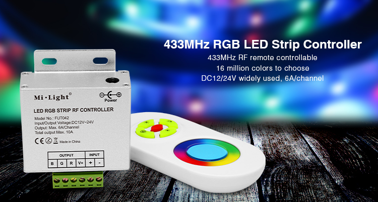 Glorious Mi.light Fut042 Dc12v Dv24v 433mhz Rgb Led Strip Controller With Rf Remote Max 10a For 5050 3528 2835 Rgb Led Strip Light Tape 50% OFF Lights & Lighting Rgb Controlers