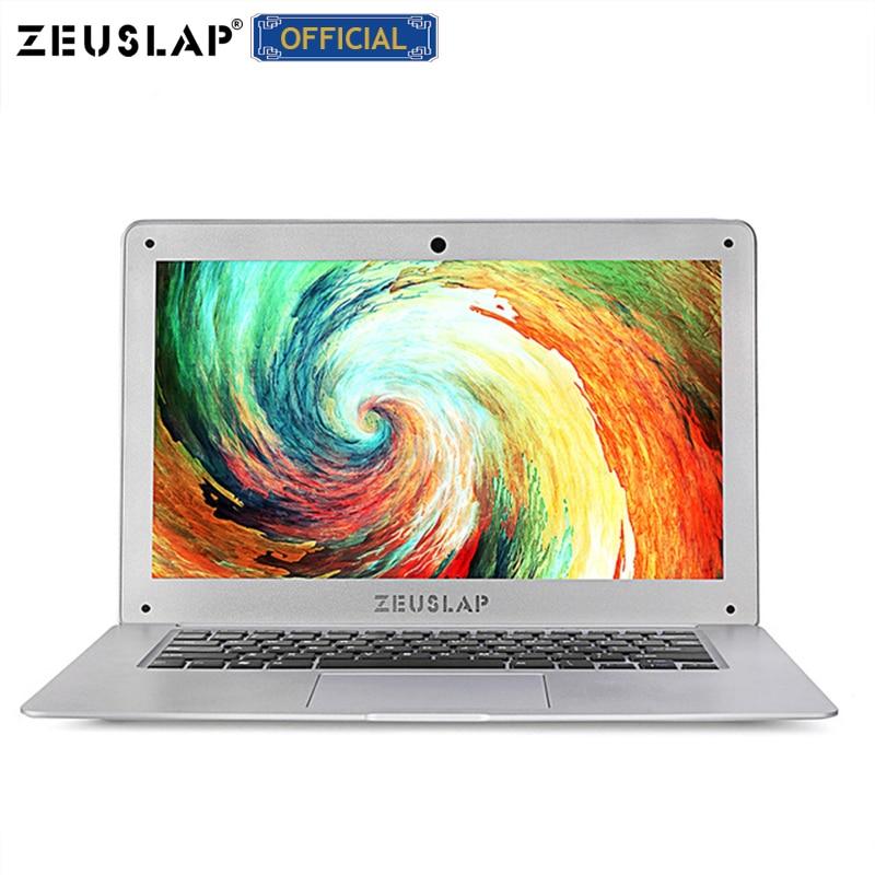 ZEUSLAP-A8 Ultrathin Quad Core Fast Running 1920X1080P FHD 8G RAM+64G SSD+500G HDD Windows 10  Laptop Notebook Computer RU stock
