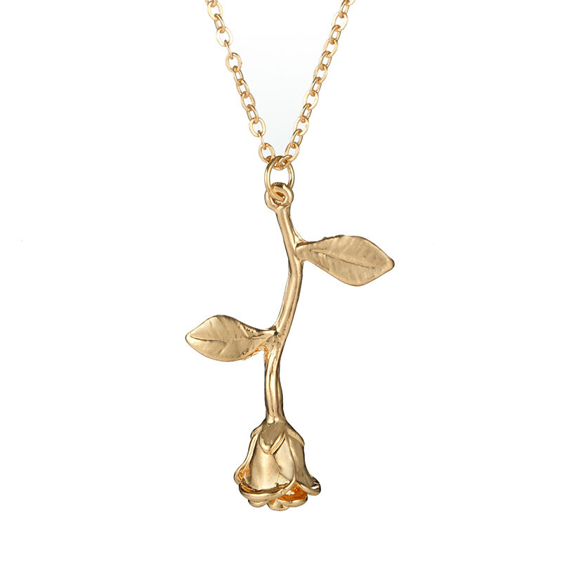 Jewelry women Necklace New Rose Flower Statement Necklace Women Charm Maxi Choker Boho Jewelry Graduation gift