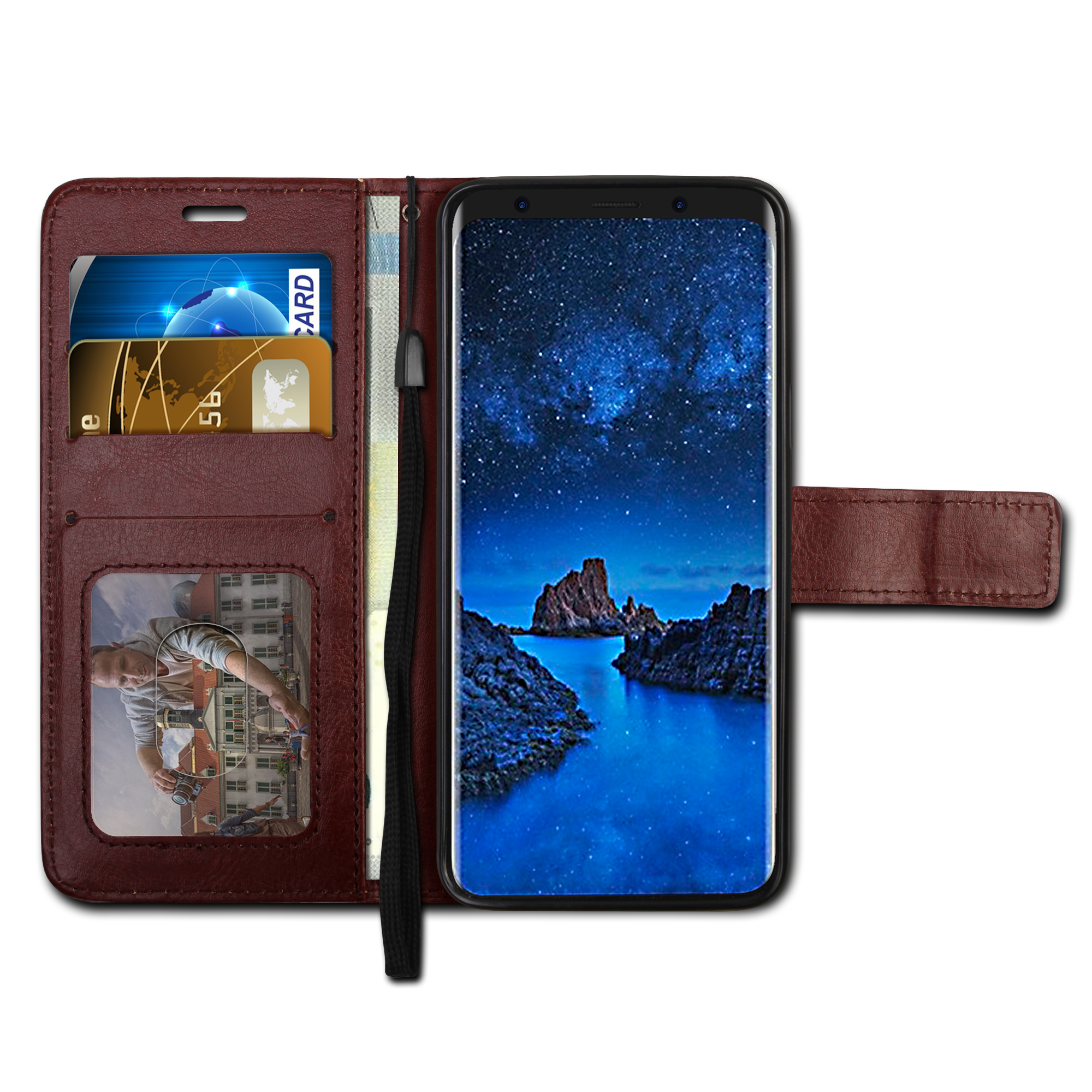 Lantro JS Dark Brown Case for iPhone 7 8 Plus Cases Trendy for iPhone XR for iPhone XS Max and iPhone X XS Darc Brown Color Only in Flip Cases from Cellphones Telecommunications