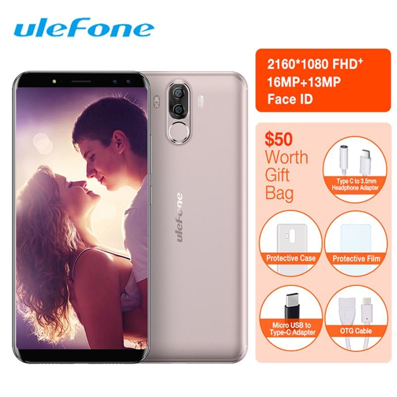 Ulefone Puissance 3 S 18:9 Smartphone Visage ID Android 7.1 MTK6763 Octa Core 4 GB + 64 GB 6350 mAh 16MP 4 Caméra téléphone portable 6 Pouces 4G LTE