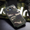 2 in1 Exército Camuflar Padrão tampa traseira PC e TPU armadura anti-knock protective phone case para samsung galaxy a5 a500f 2015