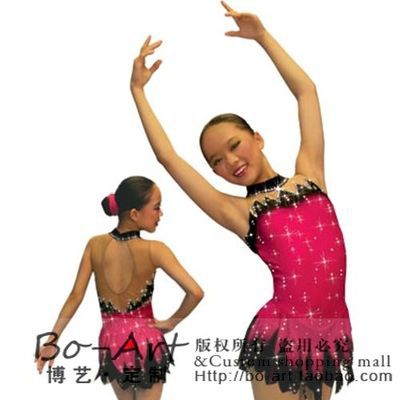 red skating dress custom figure skating suits for children hot sale spandex ice skating dress free shipping ice dess for kids