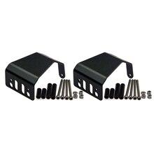 2 Unids Negro Xtra Velocidad De Aluminio Placa de Deslizamiento Axial SCX10 1:10 RC Coche Rastreador Eje # XS-SCX22127